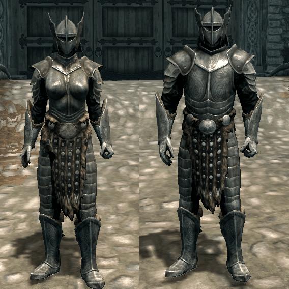 La boobplate nella steel armor di Skyrim non ha molto senso, ad esempio