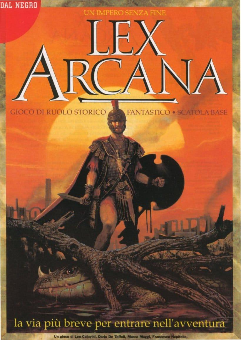L'immagine di copertina di Lex Arcana del 1993, in tutta la sua sfavillante bellezza.
